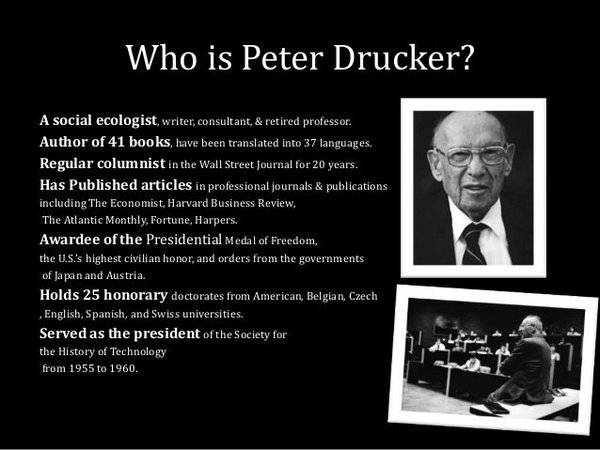 Peter Drucker Brand Leadership Wisdom