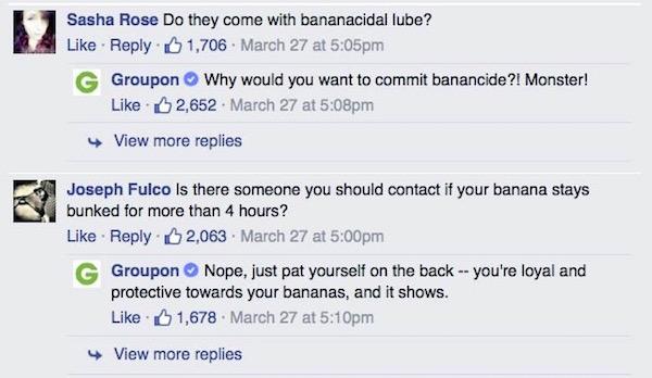 Groupon Banana-Bunker Brand