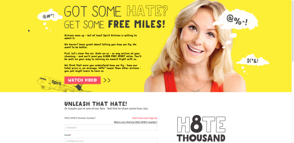 Spirit Airlines Hate Campaign