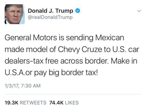 President Donald Trump Brand Criticism