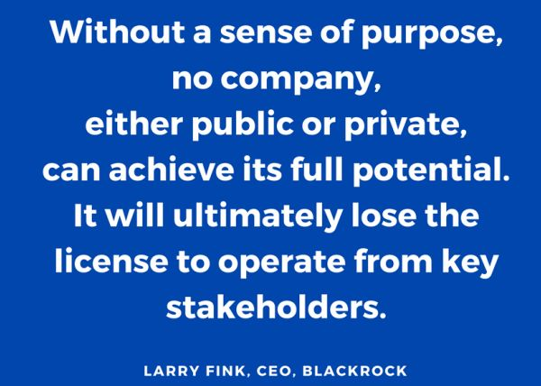 Larry Fink Purpose Profit BlackRock